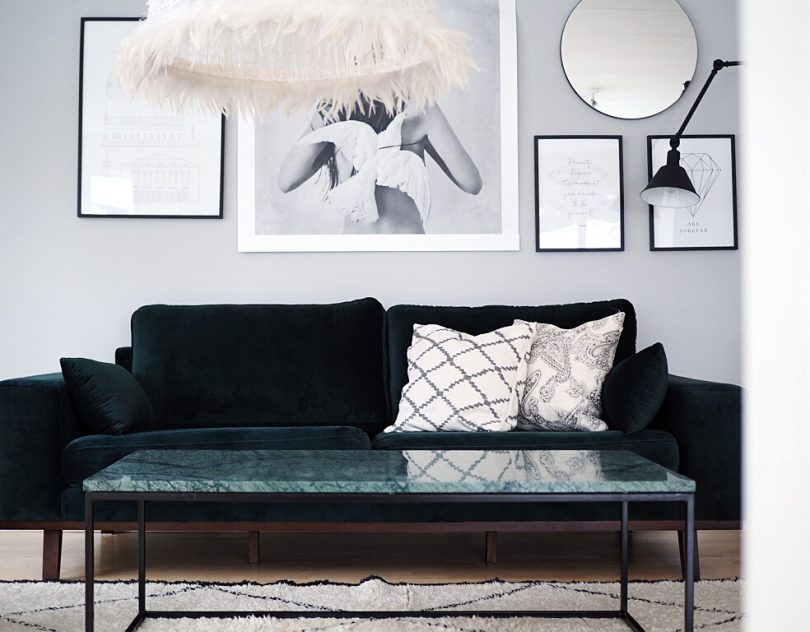 Nya möbler i mitt vardagsrum - Grönt är skönt - Inredning & Guldkanter